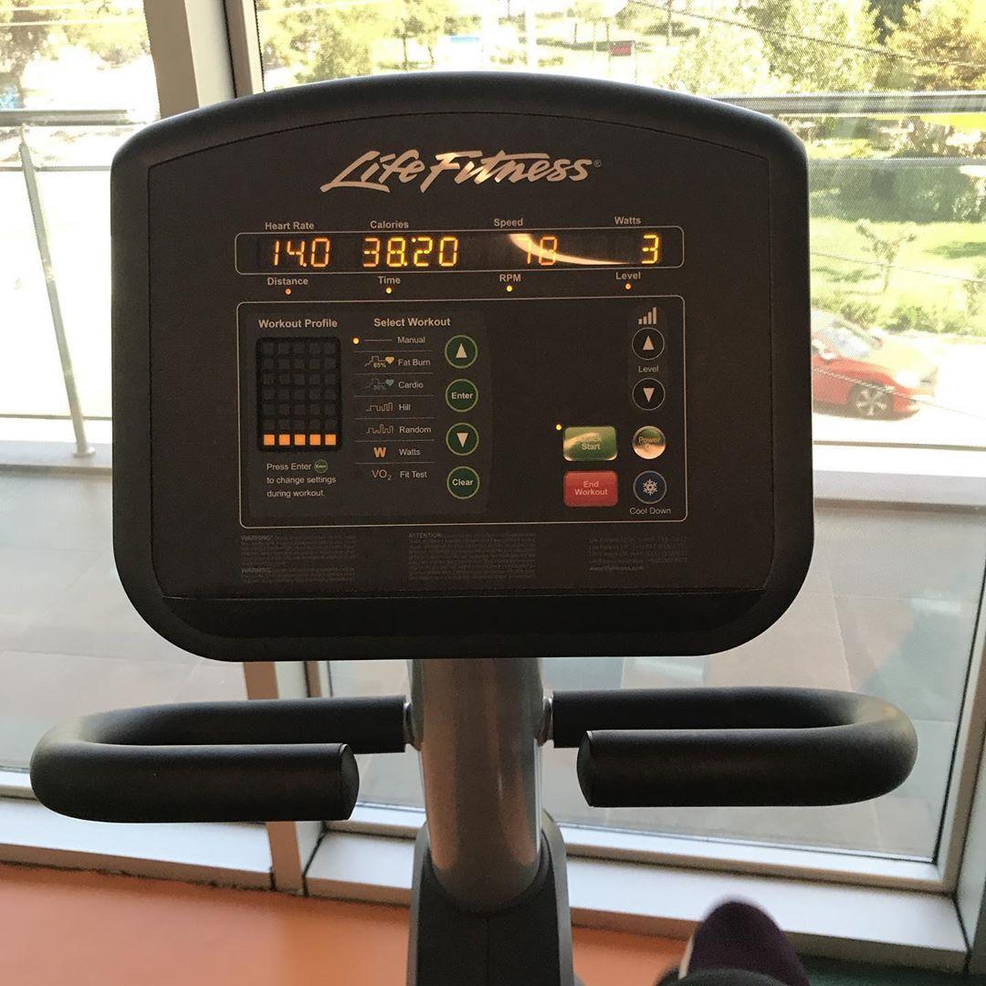 Günaydıııın aç karnına sabah cardiosu, ilk 30 dk seviye 5 minimum 80 RPM👊🏼👊🏼💪🏻 #spor #diyet #fitness