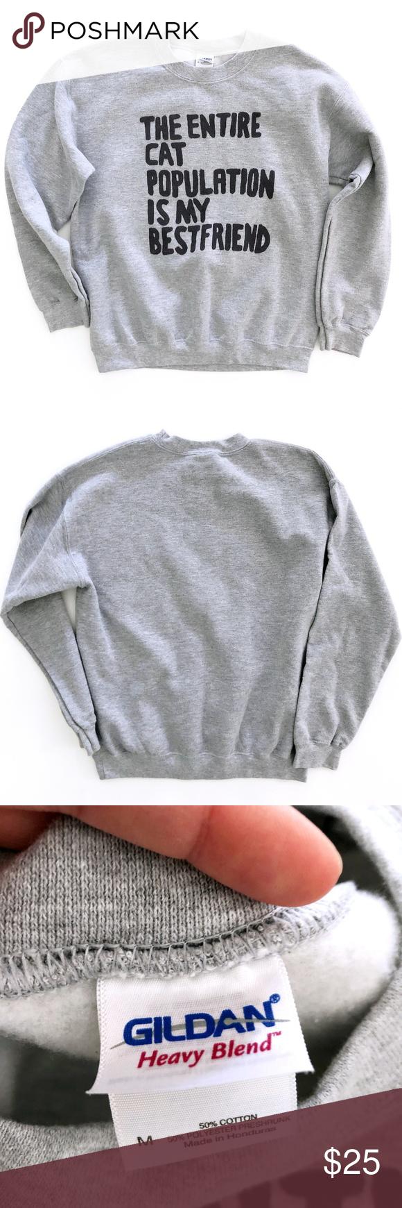Cat Best Friend Women S Sweatshirt Sweater Medium In 2020 Sweatshirts Women Sweatshirt Sweater Printed Sweater [ 1740 x 580 Pixel ]