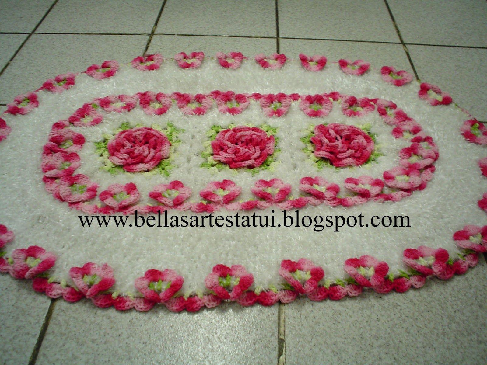 bellas artes tatui tapete croche flor amor perfeito | Croche | Pinterest