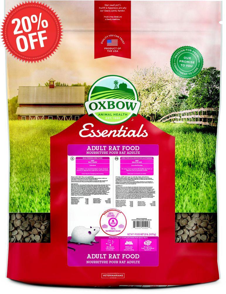 oxbow rat food 20 lb
