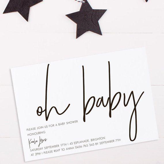 100 Stunning Printable Baby Shower Invitations Babyshower