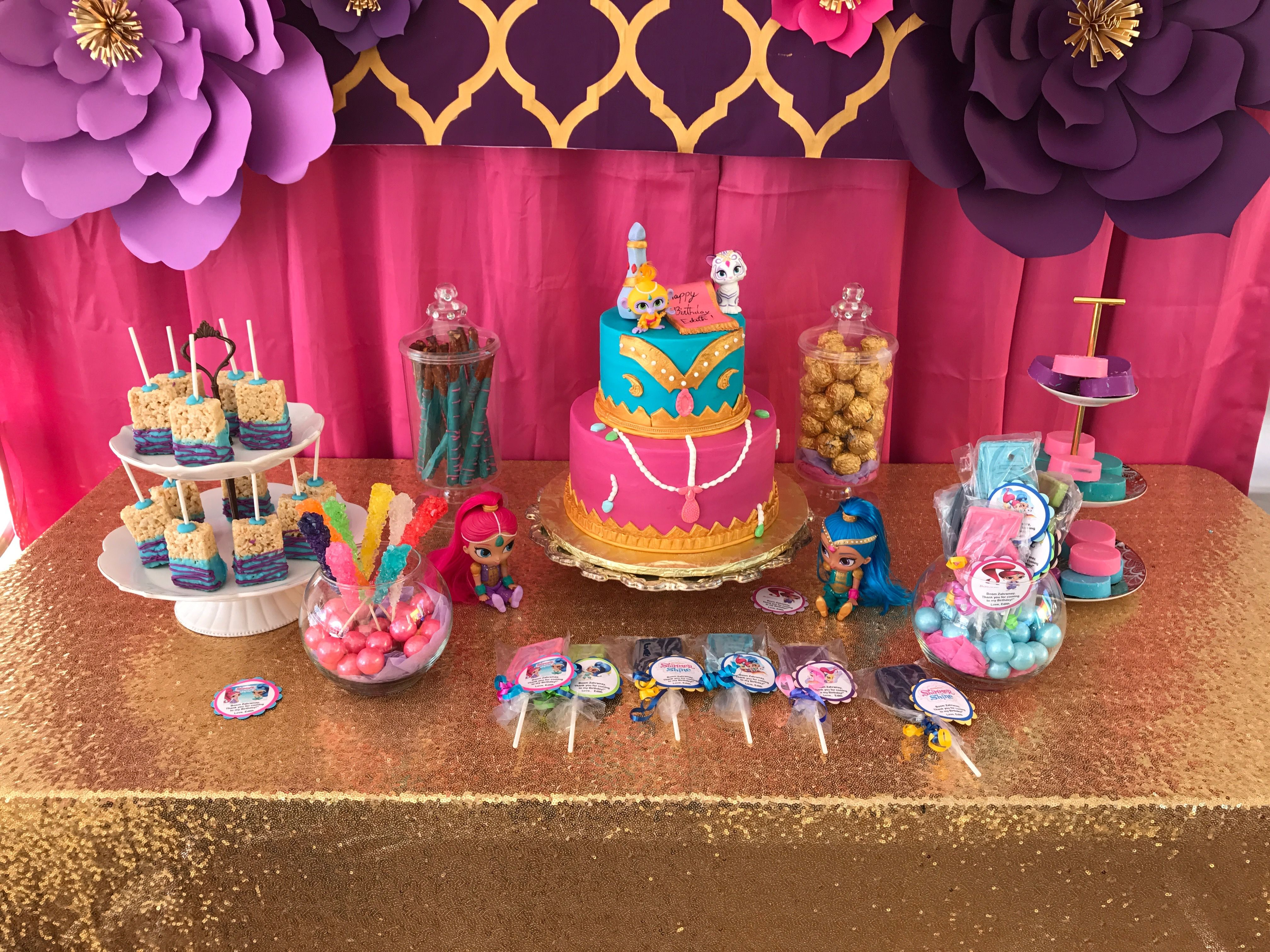 Pin On Shimmer And Shine Birthday Party Ideas