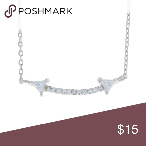 Double Arrow Cz Design Pendant Sterling Silver Yellow Gold Jewelry Sterling Silver Gold Jewelry Necklace