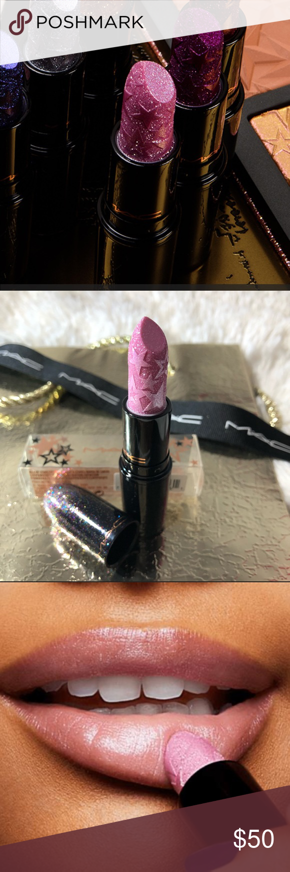 Mac Kiss of stars lipstick new in box&Gift💄 Authentic