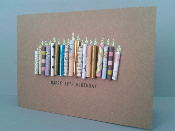 Happy 18th Birthday Candle Card Personalised 18 Today Handmade Unique On Etsy 390