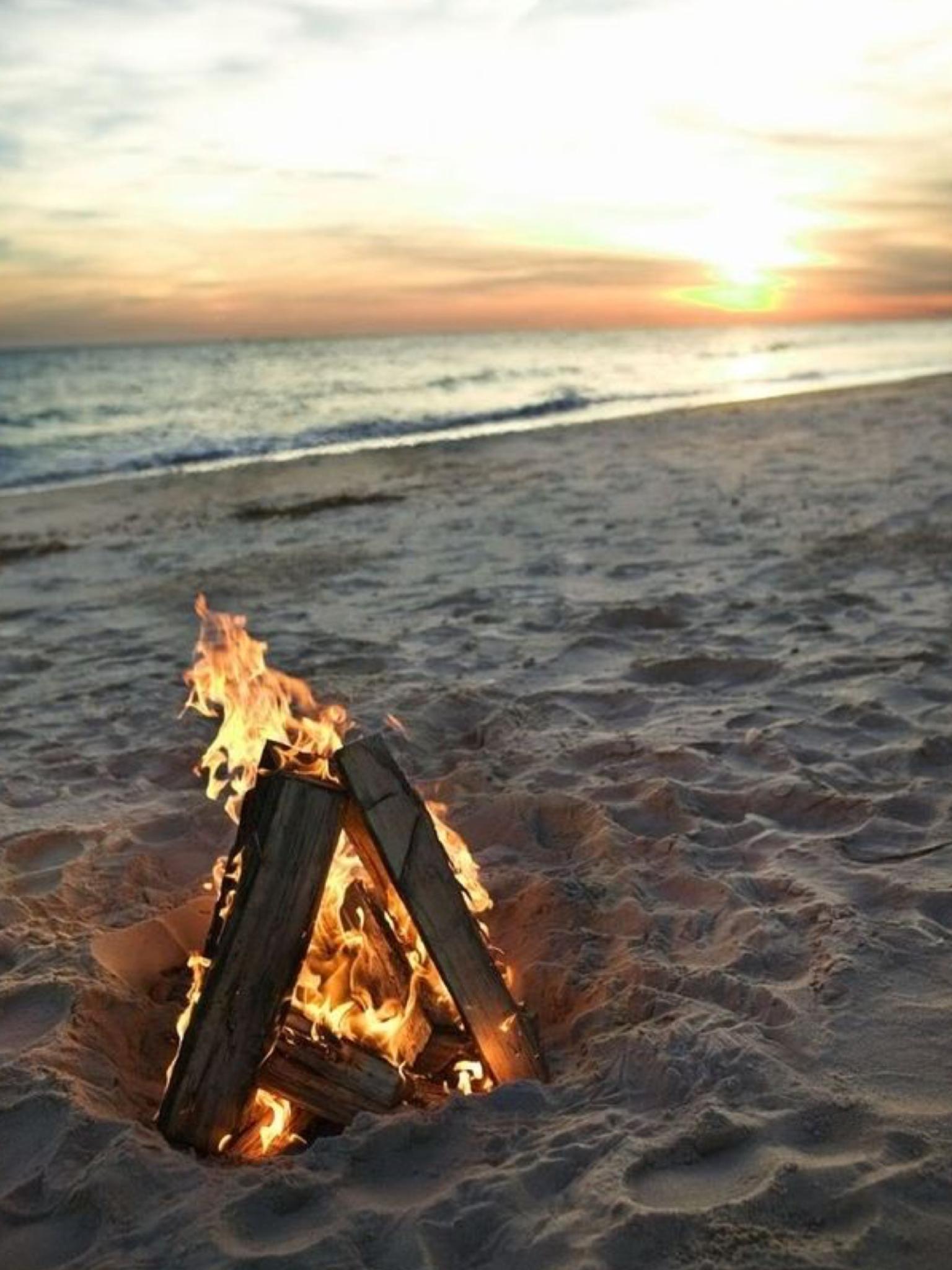 Pin by Jan on warm days | Beach fire, Beach, Beach bonfire