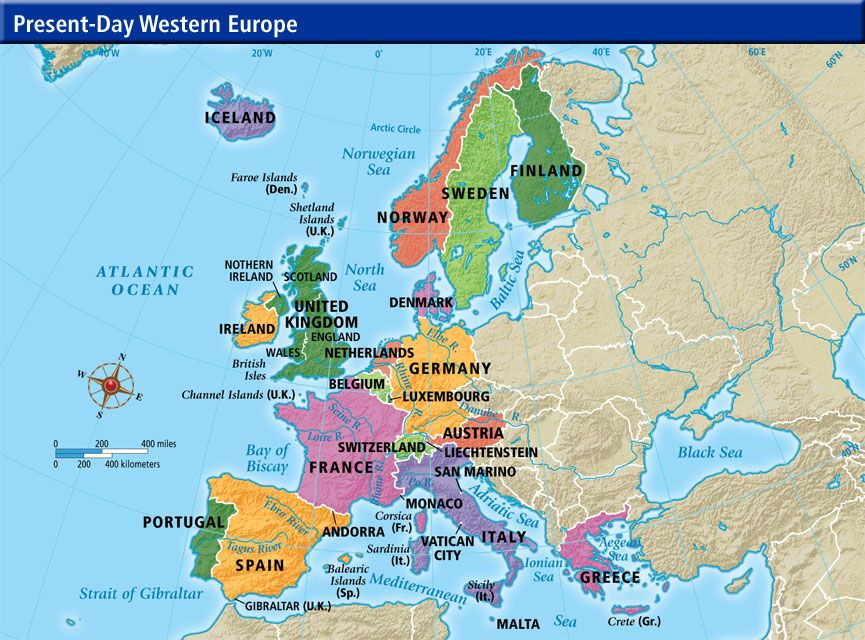 Germany Is Probably The Richest Country In Western Europe - Map of western europe