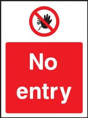 No entry warning sign
