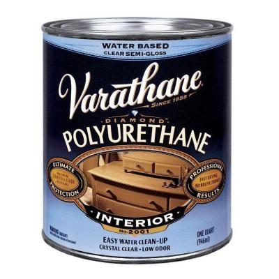 Varathane 1 Qt Clear Semi Gloss Water Based Interior Polyurethane 2 Pack 200141h Varathane Polyurethane Rustoleum