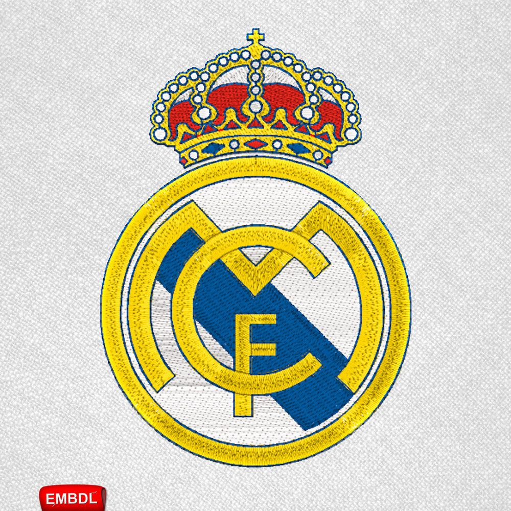 Embroidery Design Real Madrid Embroidery Download Archivo Bordado Real Madrid Embroiderydownloadco Real Madrid Logo Real Madrid Soccer Real Madrid Kit