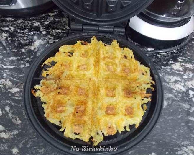 Batata Waffle - Na Biroskinha
