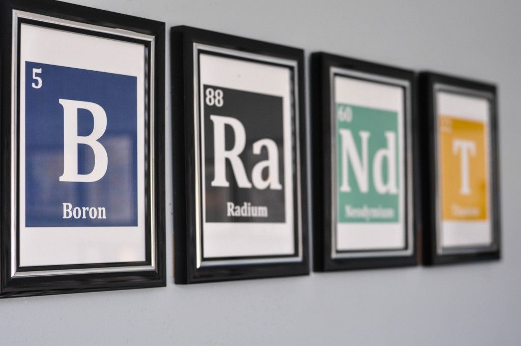 Science themed nursery project nursery themed nursery and nursery project nursery babys name using periodic table elements urtaz Images