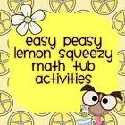 "Easy Peasy Lemon Squeezy Math Tub Activities consist of activities that you can use as a ""now what activity"" for independent practice and a variety of different things. LOVE these!"