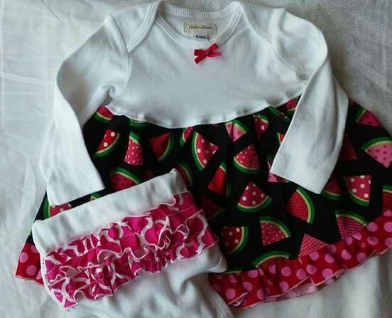 Watermelon Infant Girls 2pc Set Calico Closet Designs