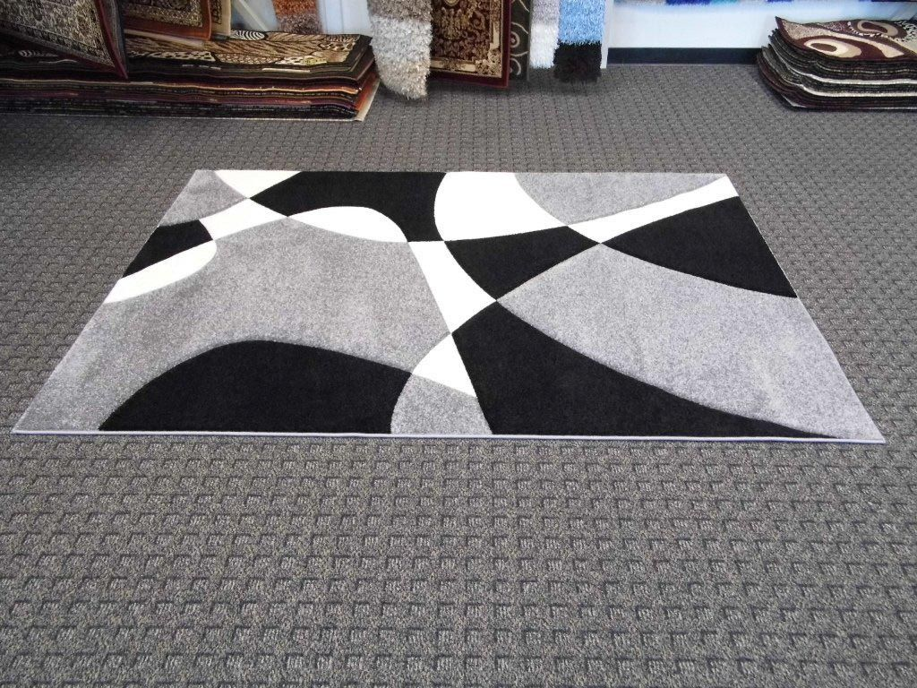 Black And White Carpet Design Modern Area Rugs Area Rug Decor