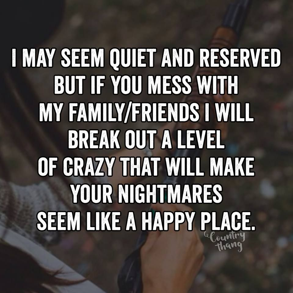 I May Seem Quiet And Reserved But If You Mess With My Familyfriends