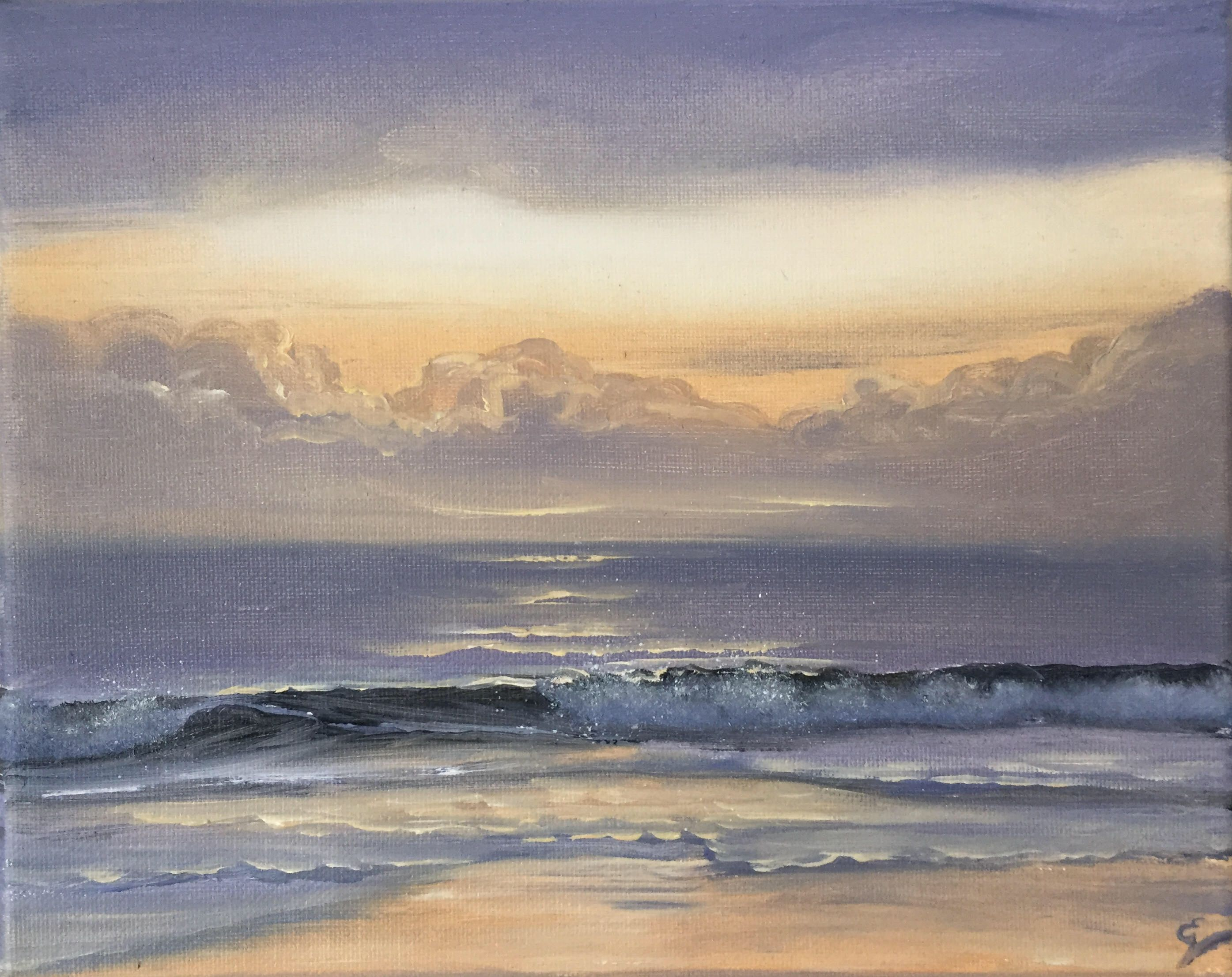 A Personal Favorite From My Etsy Shop Https Www Etsy Com Listing 588930371 Sunrise Painting Coastal Landscape Ocean Painting Sunrise Painting Beach Painting