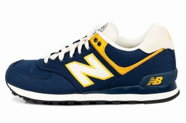 Joes New Balance ML574RUN Deep Yellow Blue Rugger Mens Shoes