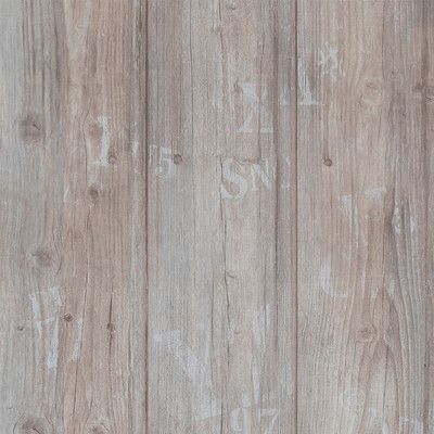 """Walls Republic 32.97' x 20.8"""" Faux Wood Stamped Wallpaper Color: Brown"""