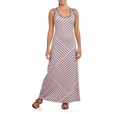 Faded Glory Striped Tank Maxi Dress