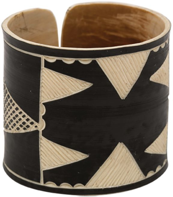 The Base Project Herero Headdress Bracelet at Blue & Cream