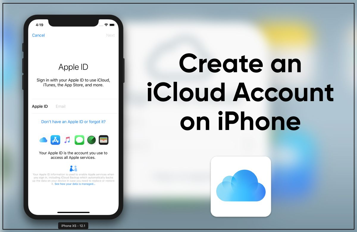 How To Create An Icloud Account On Iphone In 2020 Icloud Apple Service Iphone