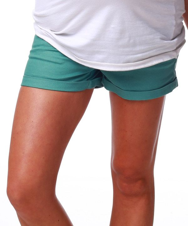 Take a look at this PinkBlush Maternity Sage Maternity Shorts on zulily today!