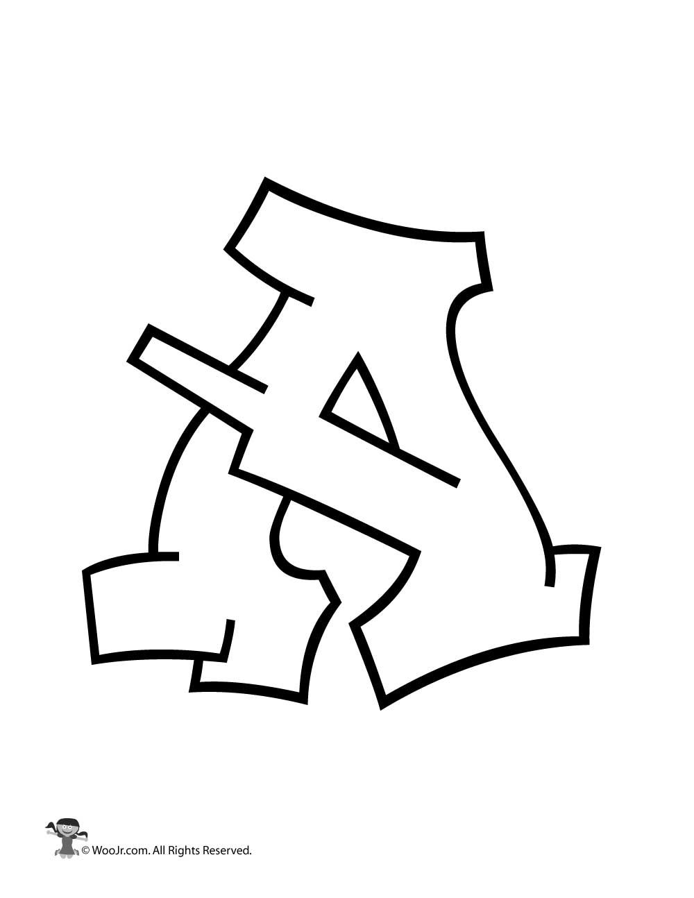 graffiti capital letter a
