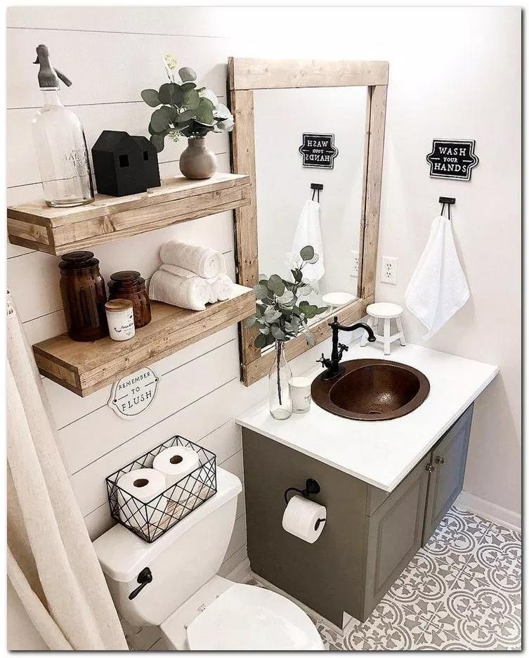 26 Clever Small Bathroom Decorating Ideas Bathroomdecor Bathroomdesign Bathroomideas Home An Bathroom Trends Small Bathroom Decor Farmhouse Bathroom Decor