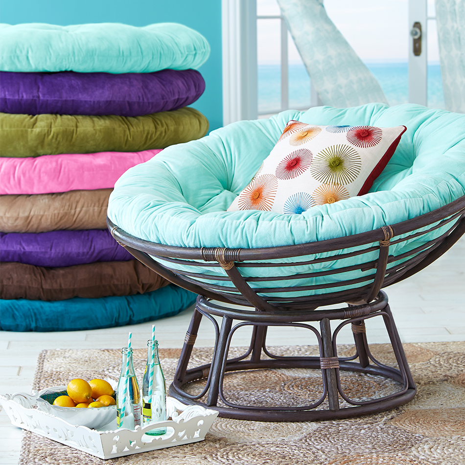 The Pier 1 Papasan Color Pad Shown Is Their Turquoise I Believe I Don T Necessarily Want The Pap Papasan Chair Papasan Chair Cover Papasan Chair Cushion