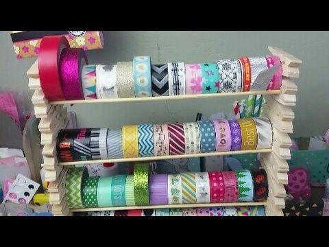 Tutorial Washi Regal aus Wäscheklammern