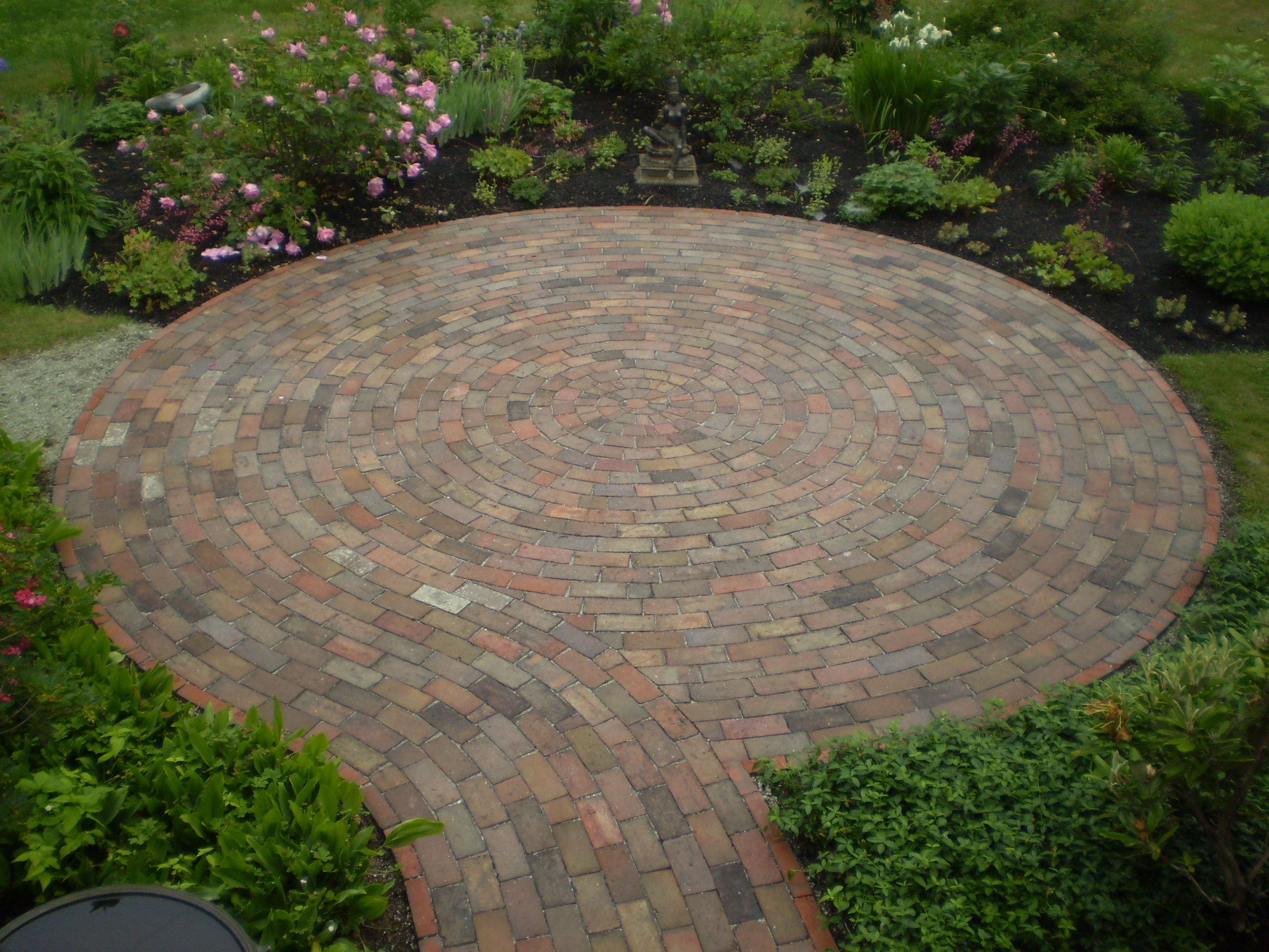 perennial stone small brick patio - Brick Patio Designs