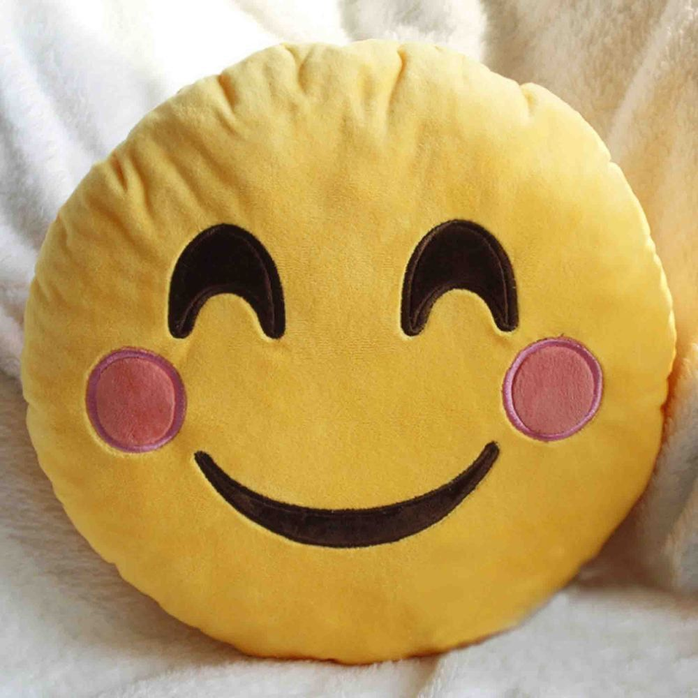 Emoji Decorative Throw Pillow Stuffed Smiley Cushion Home Decor