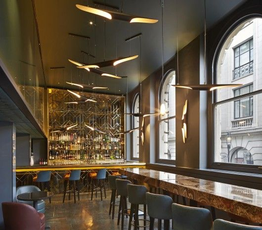 Restaurant/Bar in a Heritage Building: Christopher's Bar (London / De Matos Ryan. Mejor Restaurante / Bar en un edificio emblemático 2014 Design Award.