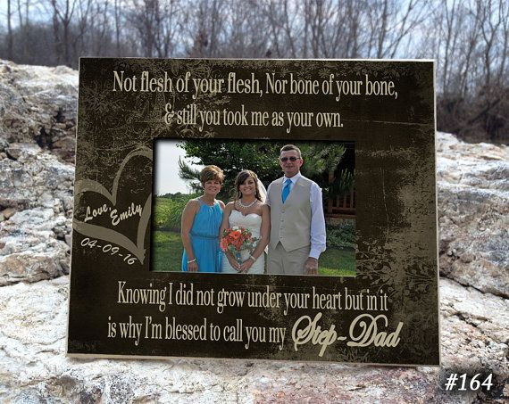 STEP/DAD: 8x10 Holds 4x6 Bridal Gift Father by PhotoFrameCompany