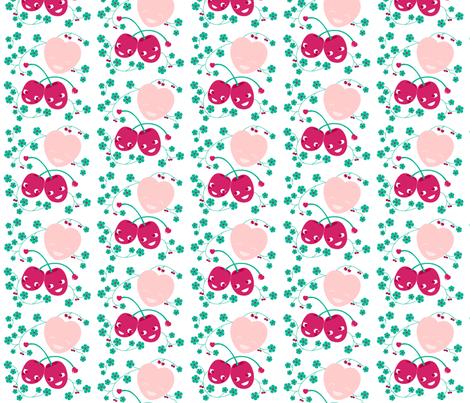 Happy cherries fabric by miss_honeybird on Spoonflower - custom fabric