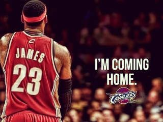 LeBron James comes home to Cleveland to play with Cavaliers