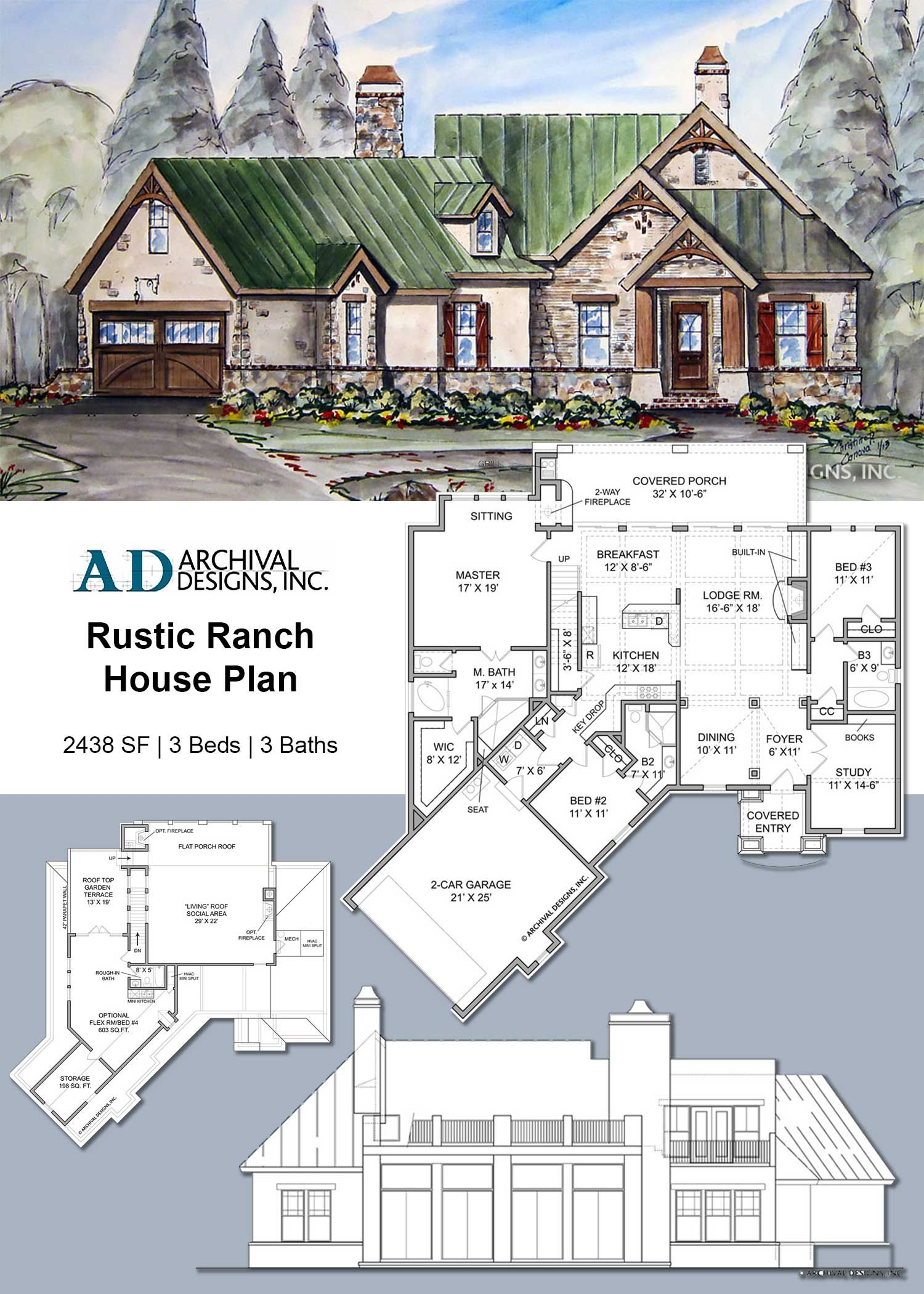 Rustic Ranch Cottage House Plan Cottage House Plans House Plans Ranch House Plan