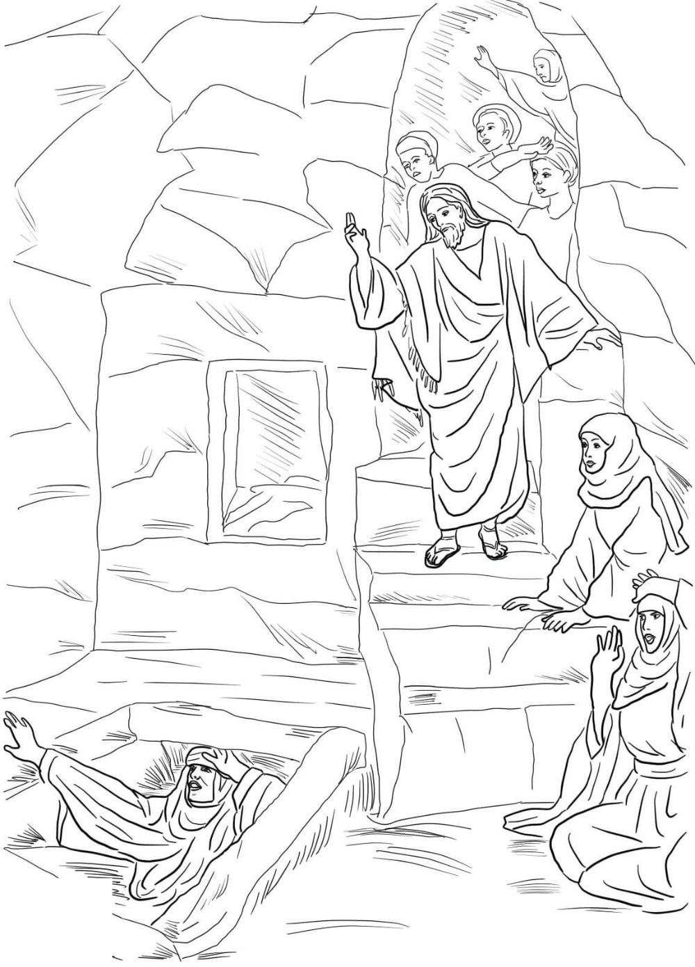 Lazarus Coloring Pages Free Sunday School Coloring Pages Coloring Pages Free Printable Coloring Pages