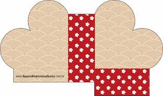 Fundo Oriental Japonês – Kit Completo com molduras para convites, rótulos para guloseimas, lembrancinhas e imagens!  Fazendo a Nossa Festa