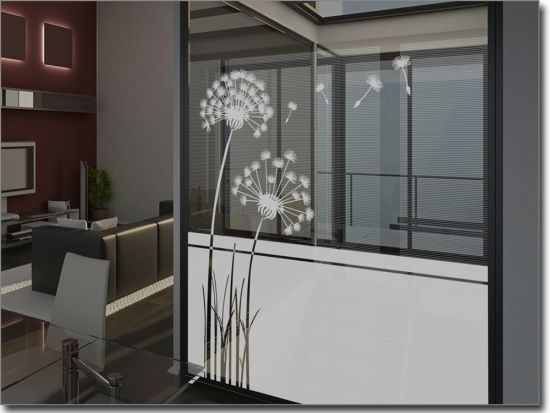 fensterfolie pusteblume fenster deko fensterfolie sichtschutz fenster und fenster. Black Bedroom Furniture Sets. Home Design Ideas