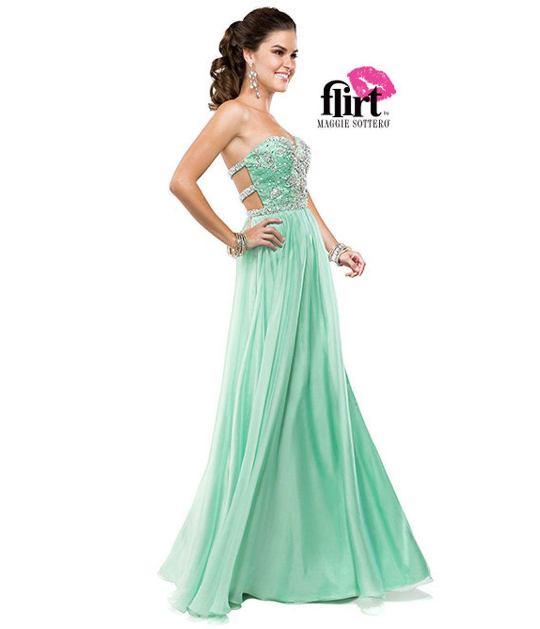 Flirt by Maggie Sottero 2014 Prom Dresses - Sea Mist A-Line ...