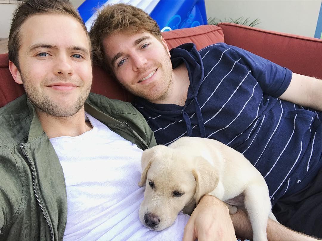 Ryland Adams, Shane Dawson, and his dog Uno