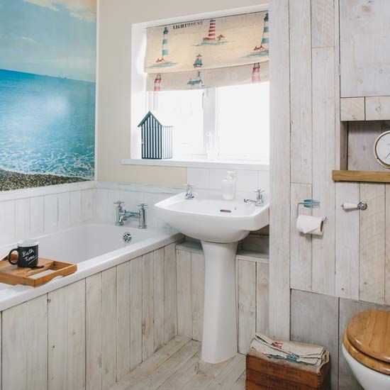 Budget Bathroom Makeover Beach Bathrooms Ocean Bathroom Decor Seaside Bathroom