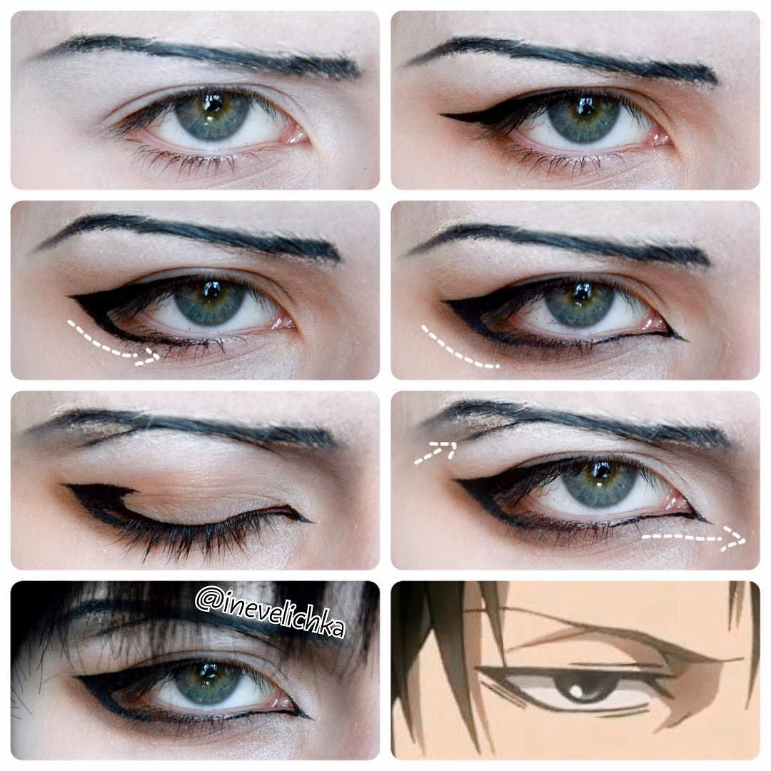 Levi Ackerman cosplay makeup tutorial Anime Pinterest