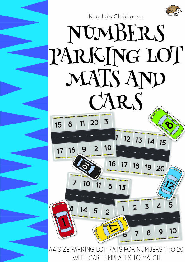 Numbers Parking Lot Mats and Cars in 2020 Math lessons