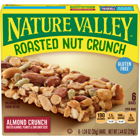 Nature Valley Roasted Nut Almond Crunch Bars, 6 ct