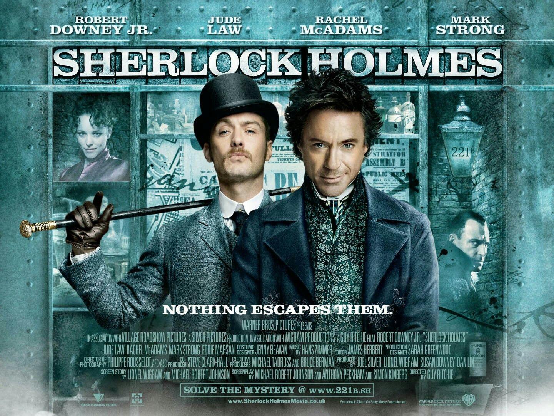 Sherlock Holmes movie poster | Holmes movie, Sherlock, Downey junior
