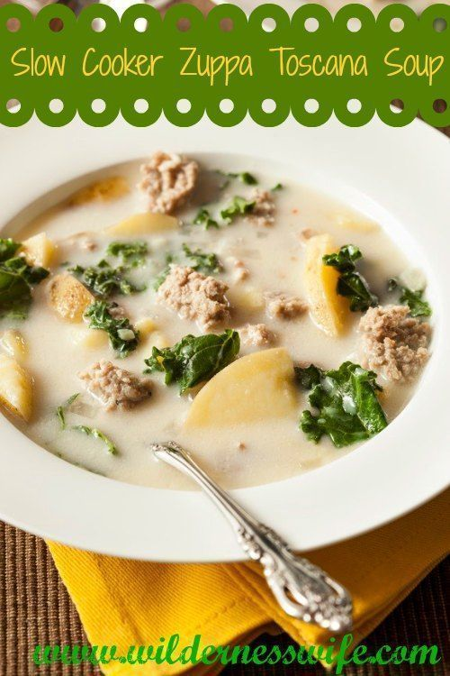 Slow Cooker Olive Garden Zuppa Toscana Soup #zuppatoscanasoup Slow Cooker Olive Garden Zuppa Toscana Soup - It's a delish favorite at the Thompson house! We love Zuppa for Suppa! www.wildernesswife.com #zuppatoscanasoup Slow Cooker Olive Garden Zuppa Toscana Soup #zuppatoscanasoup Slow Cooker Olive Garden Zuppa Toscana Soup - It's a delish favorite at the Thompson house! We love Zuppa for Suppa! www.wildernesswife.com #zuppatoscanasoup Slow Cooker Olive Garden Zuppa Toscana Soup #zuppatoscanasou #zuppatoscanasoup