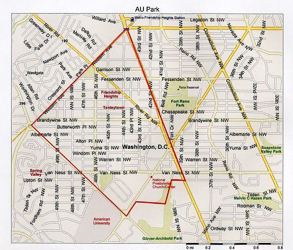 Situated In Upper Northwest DC American University Park Is Home - American university map
